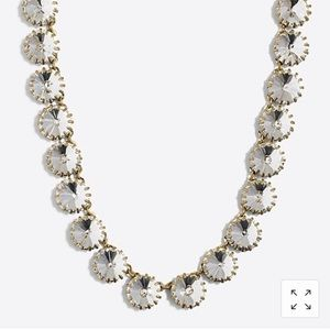 J Crew brass-plated crystal necklace